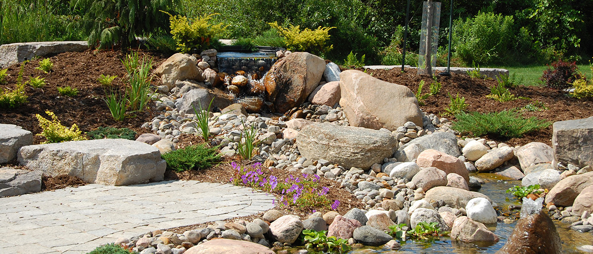 Natural Stone Landscaping Johnstons Greenhouse