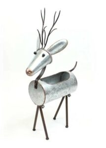 Metal Outdoor Reindeer Planter For christmas workshop