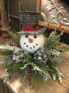snowman decoration for Christmas Workshops